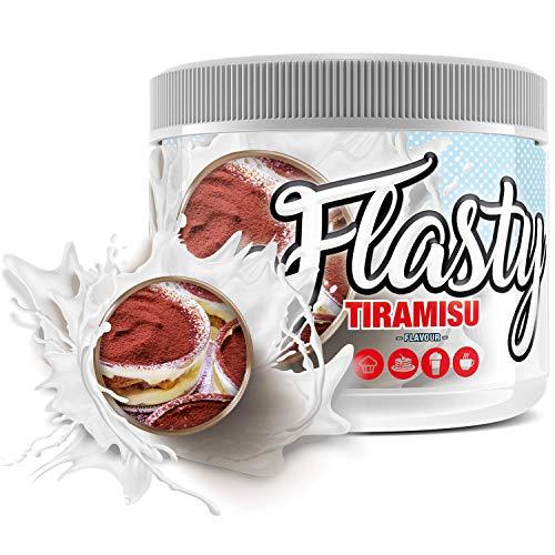 sinob Flasty Geschmackspulver (Tiramisu) 1 x 250g Kalorienarmes Flavour Pulver mit 'Nur ca. 7 kcal pro Portion' bringt es Leben in deinen Quark, Joghurt und vielem mehr.
