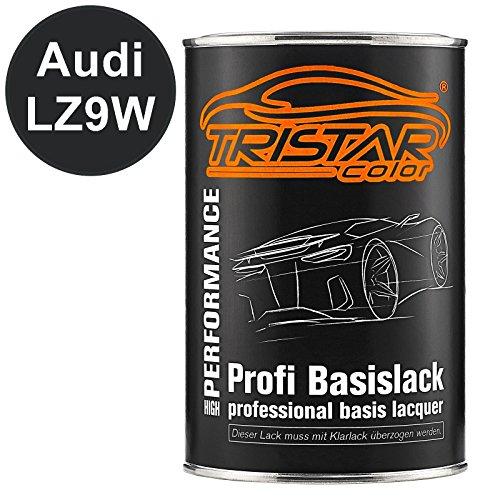 TRISTARcolor Autolack Dose spritzfertig für Audi LZ9W Ebonyschwarz Perl Basislack 1,0 Liter 1000ml
