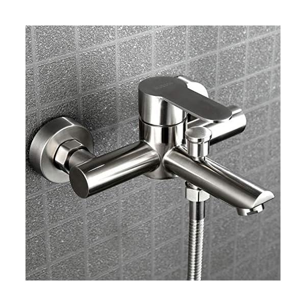 KIODS Grifo Baño Grifos de Ducha Mezcladores de bañera Triple de Acero Inoxidable Mezclador de Agua fría y Caliente…