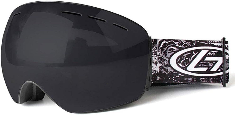ZXW Ski Glasses Ski Goggles Double AntiFog Adult Large Spherical Ski Glasses AllInclusive Ski Equipment