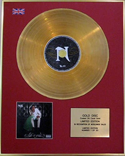 Century Music Awards NAS - Ltd Edition CD 24 Carat Gold Disc - LIFE IS GOED