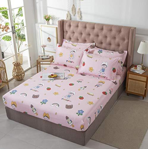 100% algodón, apartamento para estudiantes, sábana ajustable tamaño king, sábanas para hoteles, funda de colchón antideslizante, funda de cama, colchas opcionales multicolores-Z_120x200cm + 30cm