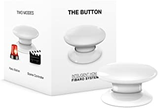 FIBARO The Button Z-Wave Plus Scene Controller On-Off Trigger, FGPB-101-1, White