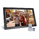 Snowtaros Marco de fotos digital de 23,6 pulgadas, con tarjeta de memoria de 16 GB, resolución de 1920 x 1080, pantalla IPS, compatible con salida HDMI HD
