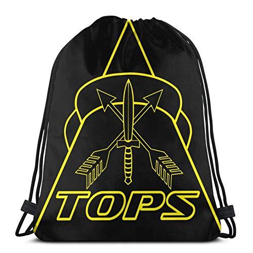 Bolsas de cordón T-O-P-S Unisex con cordón Bapa Bolsa de deporte Bolsa de cuerda Bolsa grande con cordón Bolsa de Gimnasio Bapa a granel