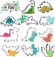Formine Biscotti Dinosauro,11 Pezzi Stampi Biscotti in Acciaio Inox,Stampi Biscotti Dinosauri Acciaio Inox per Bambini Compleanno Festa Tema Party Decorazioni