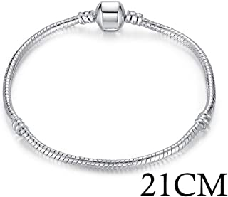 Jiuyuan Silver Color Love Snake Chain Bracelet /& Bangle 16cm-21cm Pulseras Lobster