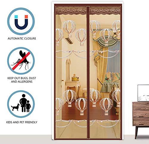 Verstevigd glasvezelgaas gordijn voordeur scherm met duurzaam gaas gordijn en volledige frame bevestigingsband 70x200cm(28x79inch) Hete luchtballon