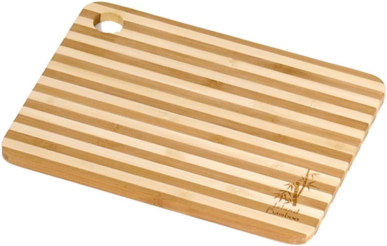 Island Bamboo HC8MG Cuisin Aire Honey Stripe Cutting Board Mini 8 Inch By 6 Inch