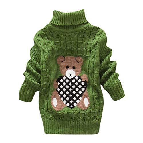 LEXUPE Baby Mantel,Infant Toddler Mädchen Junge Winter Daunenjacke Kapuzenjacke Outwear Kinder Pelzkragen mit Reißverschluss Coat Warme Kleidung(Grün,140)