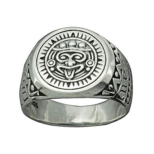 Beldiamo - Anello fatto a mano in argento Sterling 925, 9,5 g e Argento, 17,5, colore: Silver, cod. R0103-GJ-9