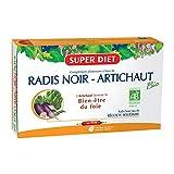 SuperDiet Radis noir Artichaut Digestion Bien être bio 20 ampoules de 15ml soit...