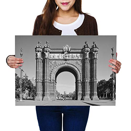 Destination Vinilo Posters A2 BW - Arc de Triomf Barcelona Archway Art...