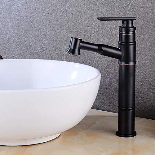 BXU-BG Grifo de cobre para baño de bronce negro de alta temperatura fría y caliente de 360° sin ángulo muerto de limpieza de la válvula de diámetro del asiento de 35 mm a prueba de óxido