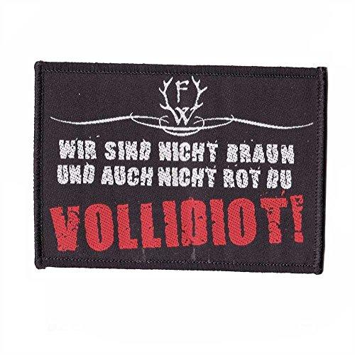 Frei.Wild - Du Vollidiot Bügelpatch gestickt ca. 10 cm x 6 cm