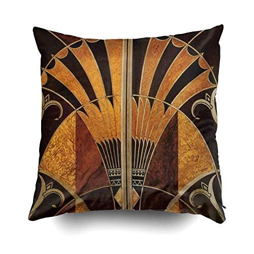 Jugendstil Art Deco Vintage Multi Holz Farben Kissen Fall Dekokissen Abdeckung für Sofa Home...