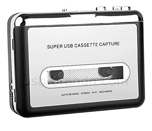 CCHKFEI Cassette Player, Portable Tape to PC Converter USB Cassette Recorder Tape-to-MP3 Music Player Convert Tape Cassettes to MP3 CD/Analog Audio to Digital Format