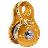 ALPIDEX Polea de reenvío Mobile Pulley 20 kN - para Cuerdas Textiles de hasta 11 mm de diámetro - EN12278, Color:Naranja
