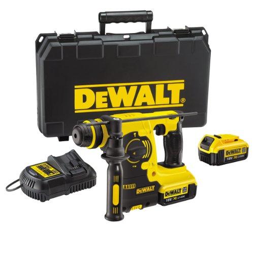 DEWALT DCH253M2 18V XR Lithium-Ion SDS Plus Rotary Hammer Drill includes 2 x 4Ah Batteries, Yellow/Black