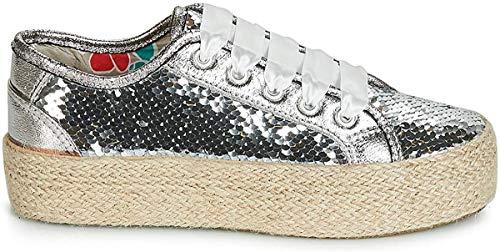 CAFÉ Noir DG921 Sneaker Damen Silbern - 40 - Sneaker Low