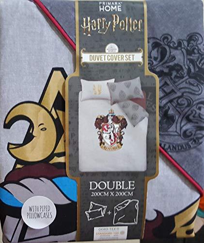 Primark Home Harry Potter - Juego de funda nórdica y funda de almohada reversible, diseño del escudo de Gryffindor de Harry Potter