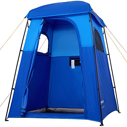 KingCamp Oversize Outdoor Easy Up Portable Dressing Changing Room Shower Privacy Shelter Tent, BLUE