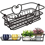 ChasBete Wire Baskets for Organizing, Cute Black Wire Basket, Unique Vegetable Fruit Basket for Kitchen