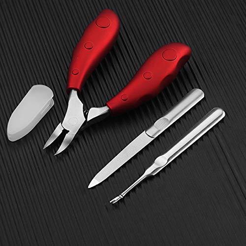 Alicates para uñas, cortaúñas de pedicura olécranon para el hogar, juego de cortaúñas gris grueso, alicates de águila roja + juego de 2 piezas
