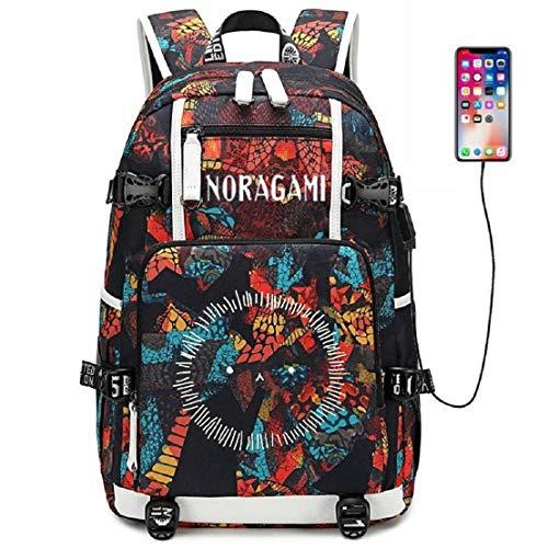 YOYOSHome Luminous Anime Noragami Cosplay Büchertasche Daypack Laptoptasche Rucksack Schultasche mit USB-Ladeanschluss