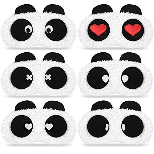7 pcs Masque de Sommeil de Voyage Masque Panda pour Enfant Pyjama F/ête
