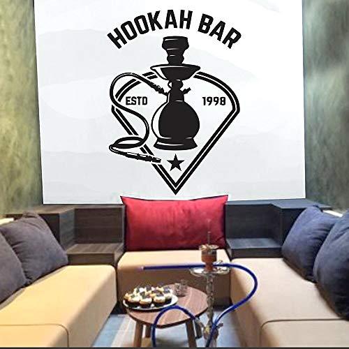 Hookah Bar Etiqueta de la Pared Cotizaciones Art Wall Decal Hookah Shop Mural Studio Design Star Pattern