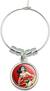 Wonder Woman Character Wine Glass Charm Drink Marker