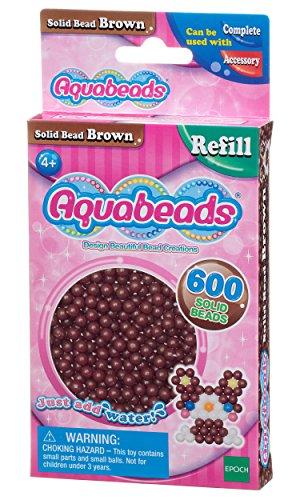 Aquabeads - La Recharge Perles Marron - 32598 - Recharge Couleur - Loisirs Créatifs