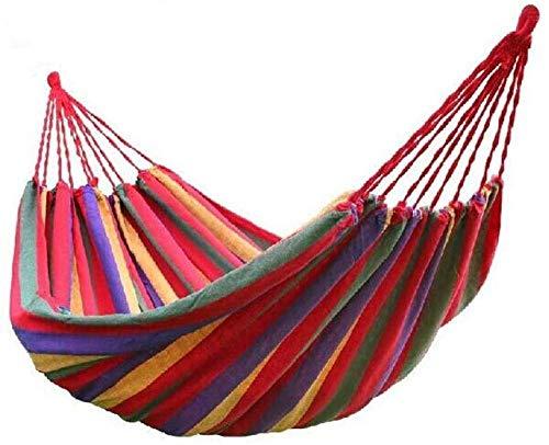 Hamocks Swing Silling Sillón Suspendido Jardín Al Aire Libre Haa Travel Bed Viajes Camping Swing Survival para Dormir fuerte y robusto Gymqian