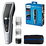 Philips Series 5000 Trim-n-Flow PRO Technology Hair Clipper, Fully Washable, Silver/Black, HC5630/13