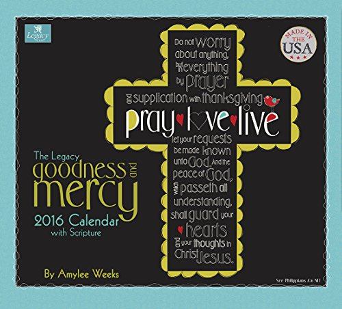 Legacy Publishing Group 2016 Wall Calendar, Goodness and Mercy (WCA18743)