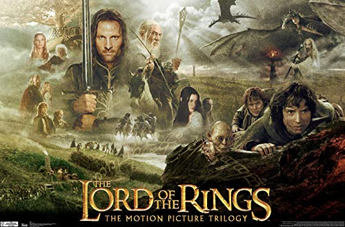"""Trends International Lord of The Rings Trilogy Wall Poster 22.375"""" x 34"""""""