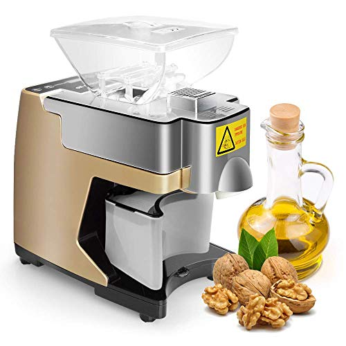 S SMAUTOP Máquina de prensa de aceite Extractor de aceite de nuez fría/caliente Prensa de aceite...