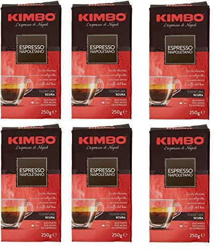 KIMBO espresso napoletano, 250g gemahlen, 6er Pack