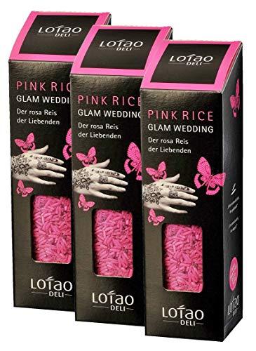 Lotao Glam Wedding Pink Reis, (3 x 300 g)