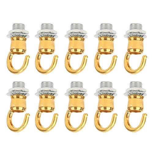 Redxiao~ Gancho para luz de Techo, Accesorio de decoración Ligera, Gancho para candelabro Candelabro Interior para Linterna de Apertura(Electric Gold)