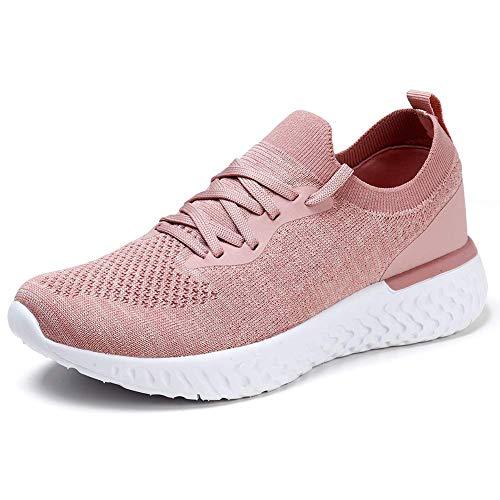 HKR Scarpe Donna Sneakers Moda Strada Running Camminare Fitness Sneakers Traspirante Tennis per Gym Estive Primavera Rosa 38 EU