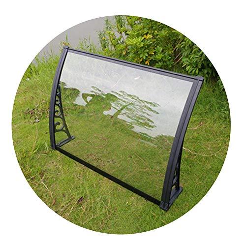 Auvent Marquise Porte D'Entree QIANDA Porte Abri Protège du Soleil, Pluie, Neige Fondue Ou Neige for Patio Porche Et Porte D'entrée (Color : Clear, Size : 60cmx120cm)