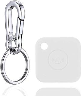 SKZIRI Silikon Schutzhülle mit Schlüsselanhänger, kompatibel mit Tile Mate, kratzfest, leicht, weiche Schutzhülle (Gerät nicht im Lieferumfang enthalten) (weiß)