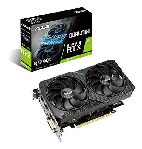 ASUS Dual NVIDIA GeForce RTX 2070 Mini OC Edition Gaming Graphics Card (PCIe 3.0, 8GB...