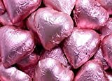 pink heart chocolate favors