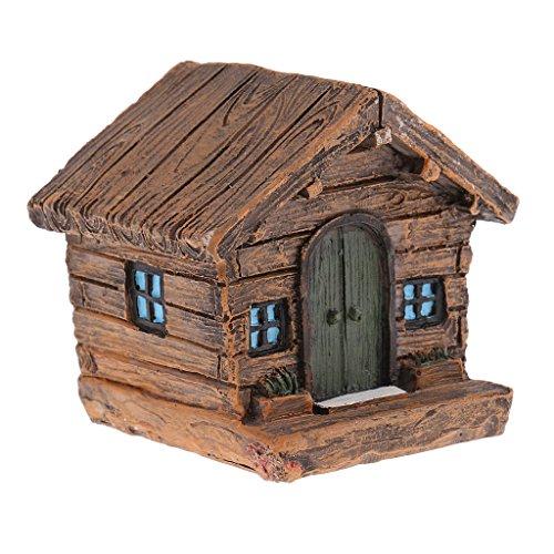Bauernhaus Farmhaus Haus Modell Miniatur Zubehör, aus Harz
