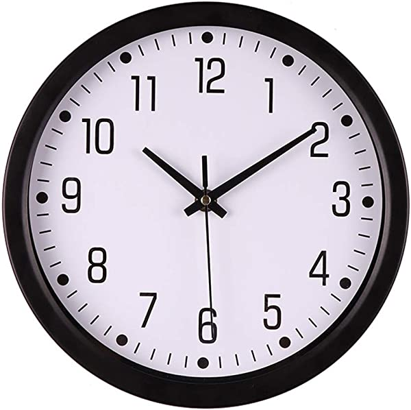 10 Inch Modern Silent Non Ticking Round Wall Clock Silent Quartz Sweep Battery Operated Clock Decorative Arabic Numerals For Home Kitchen Office Living Room Bedroom C
