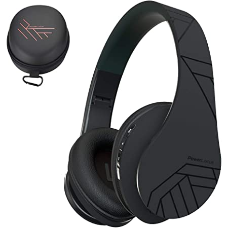 PowerLocus Bluetooth Over-Ear Headphones, Wireless Stereo Foldable Headphones Wireless and Wired Headsets with Built-in Mic, Micro SD/TF, FM for iPhone/Samsung/iPad/PC - Black