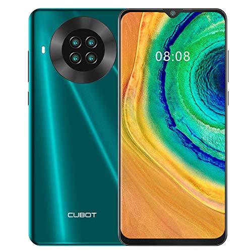 CUBOT Note 20 Smartphone 4G, Teléfono Móvil Libre Android 10.0 6,5 Pulgadas 64GB ROM 4200mAh Quad Cámara12+20MP, Face ID GPS WiFi Dual SIM Quad-Core, Verde (Reacondicionado)